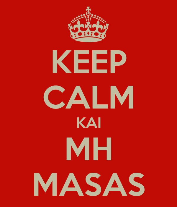 KEEP CALM KAI MH MASAS