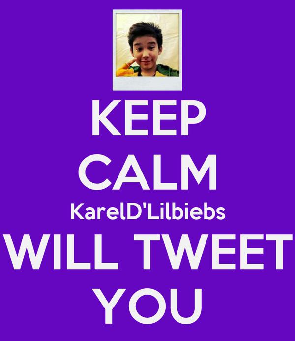 KEEP CALM KarelD'Lilbiebs WILL TWEET YOU