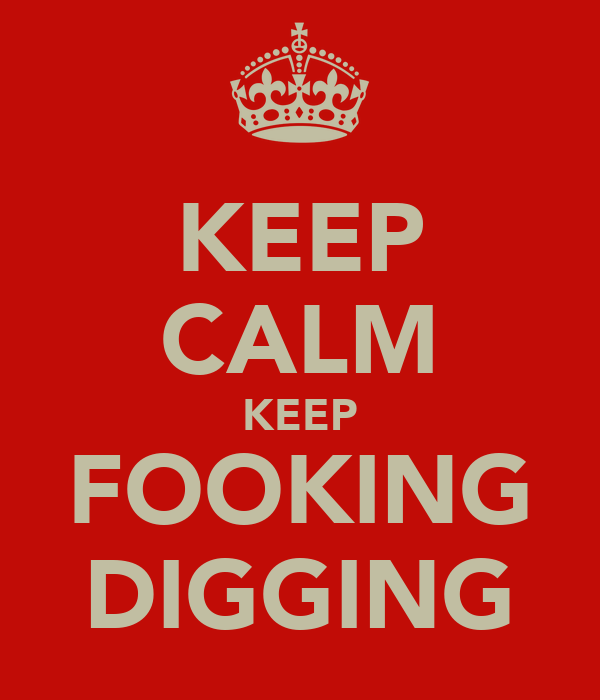 KEEP CALM KEEP FOOKING DIGGING