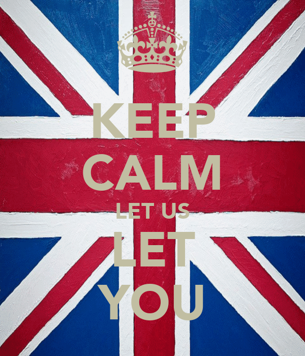 KEEP CALM LET US LET YOU