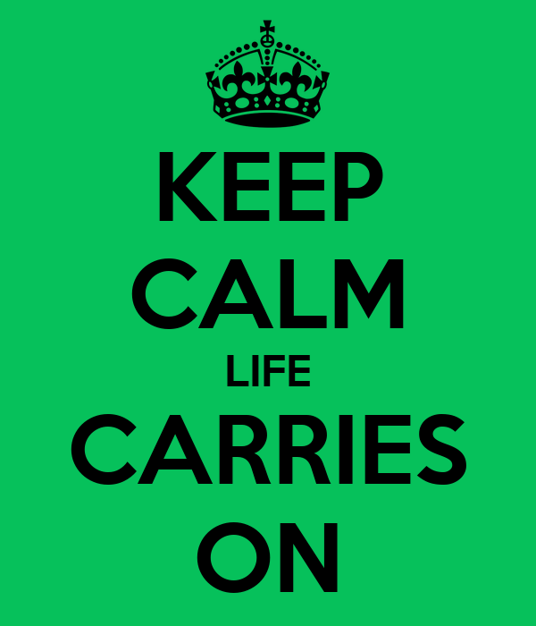 KEEP CALM LIFE CARRIES ON