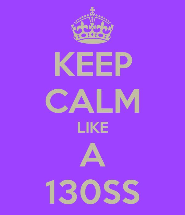 KEEP CALM LIKE A 130SS