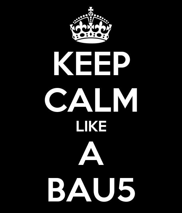 KEEP CALM LIKE A BAU5