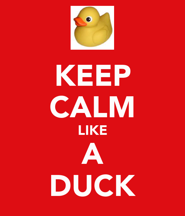 KEEP CALM LIKE A DUCK
