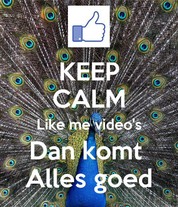 KEEP CALM Like me video's Dan komt  Alles goed