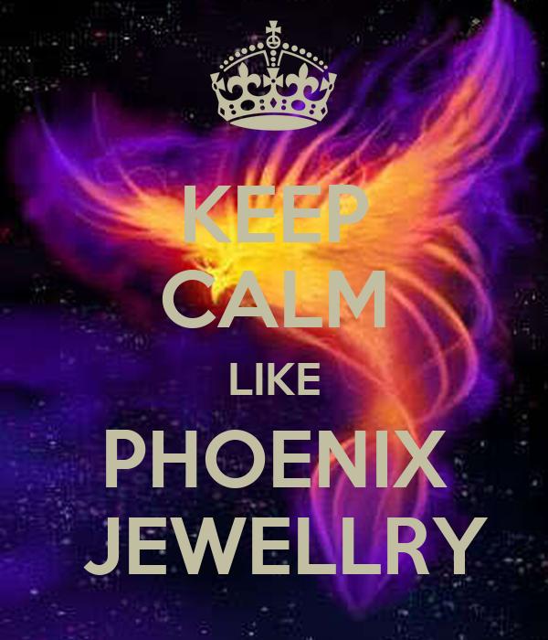 KEEP CALM LIKE PHOENIX  JEWELLRY