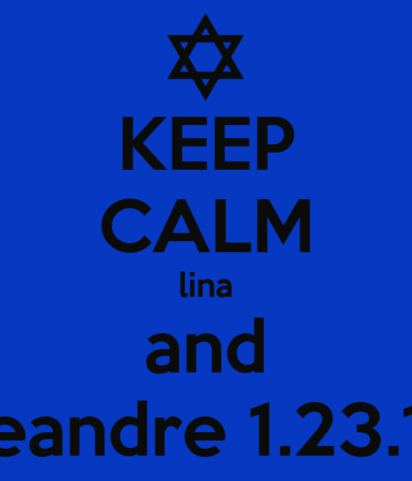KEEP CALM lina and deandre 1.23.12
