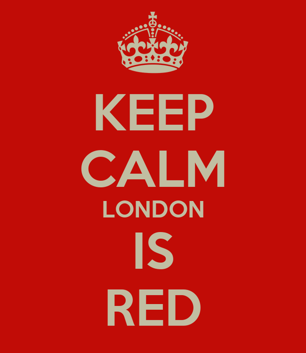KEEP CALM LONDON IS RED