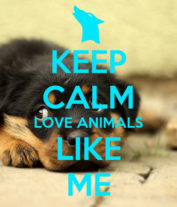 KEEP CALM LOVE ANIMALS LIKE ME