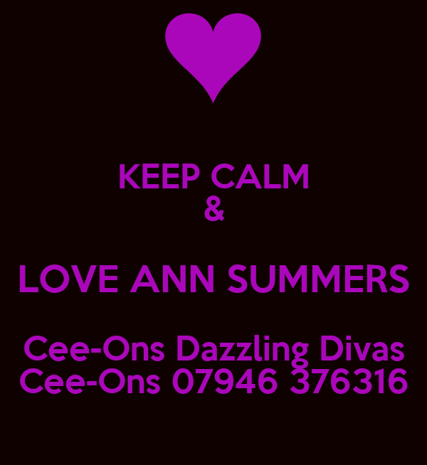 KEEP CALM & LOVE ANN SUMMERS Cee-Ons Dazzling Divas Cee-Ons 07946 376316
