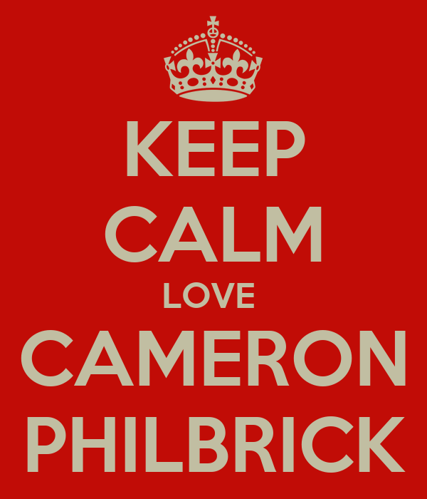 KEEP CALM LOVE  CAMERON PHILBRICK