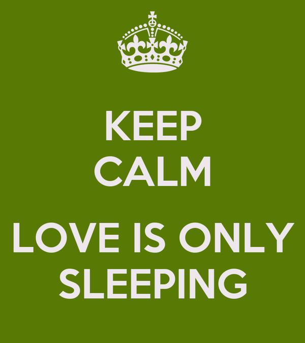 KEEP CALM  LOVE IS ONLY SLEEPING