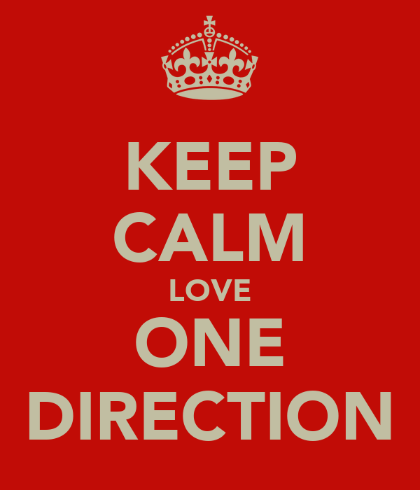 KEEP CALM LOVE ONE DIRECTION