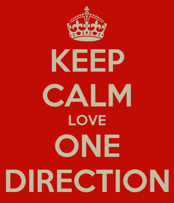 KEEP CALM LOVE ONE DIRECTION