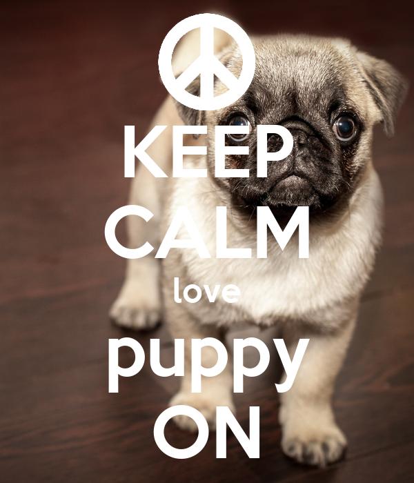 KEEP CALM love puppy ON