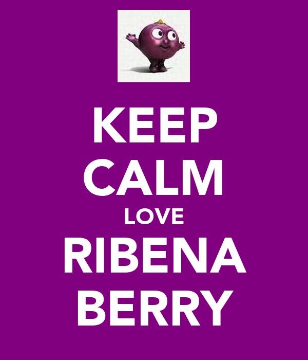 KEEP CALM LOVE RIBENA BERRY