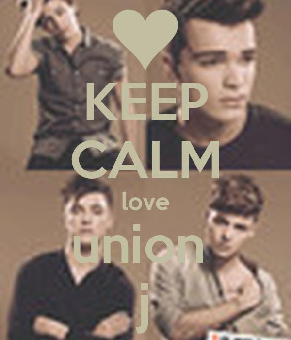 KEEP CALM love union  j