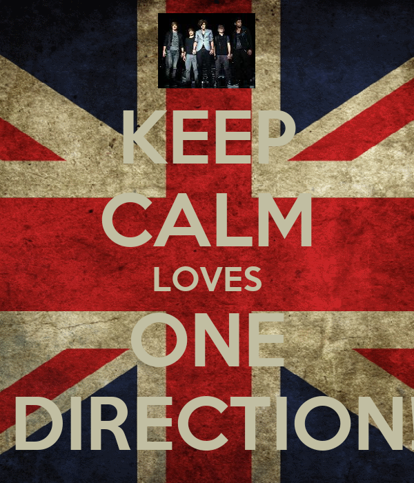 KEEP CALM LOVES ONE  DIRECTION!