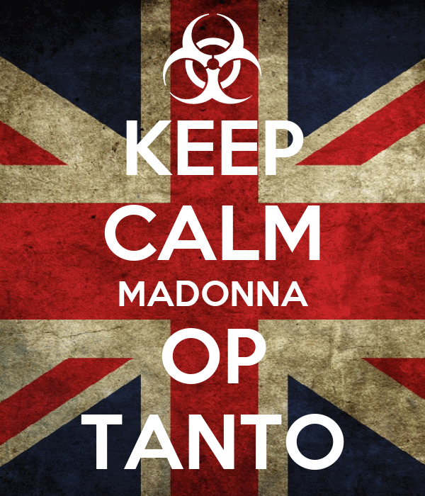 KEEP CALM MADONNA OP TANTO