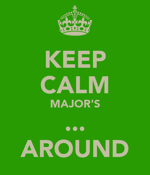 KEEP CALM MAJOR'S ... AROUND