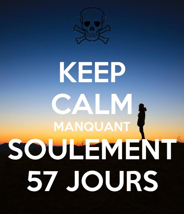 KEEP CALM MANQUANT SOULEMENT 57 JOURS