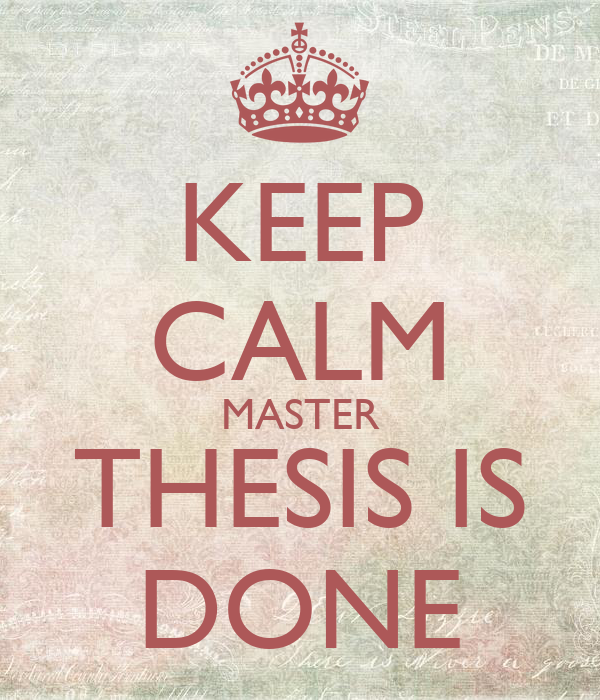 thesis done