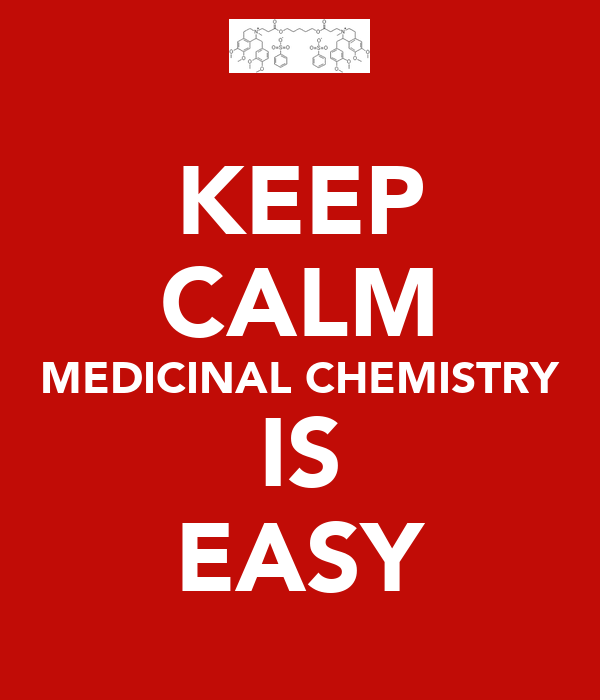 KEEP CALM MEDICINAL CHEMISTRY IS EASY
