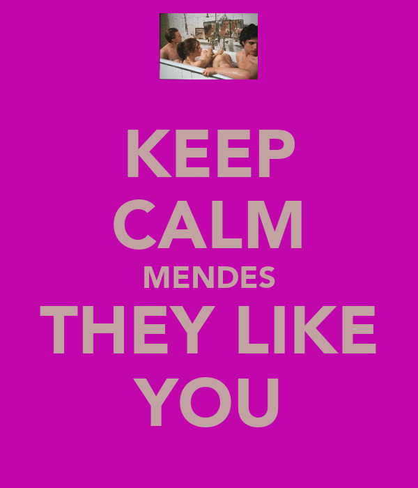KEEP CALM MENDES THEY LIKE YOU