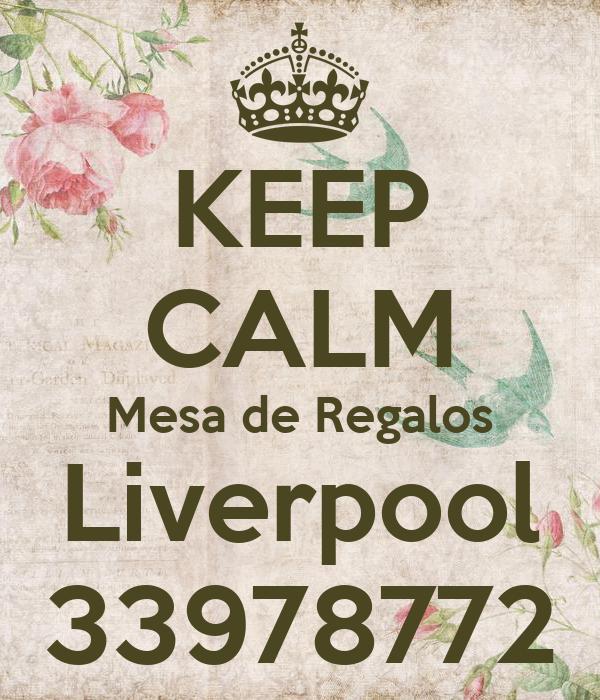 KEEP CALM Mesa de Regalos Liverpool 33978772