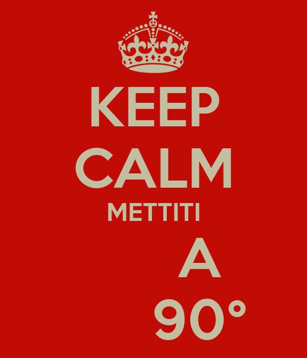 KEEP CALM METTITI       A       90°