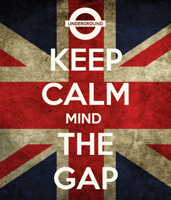 KEEP CALM MIND  THE GAP