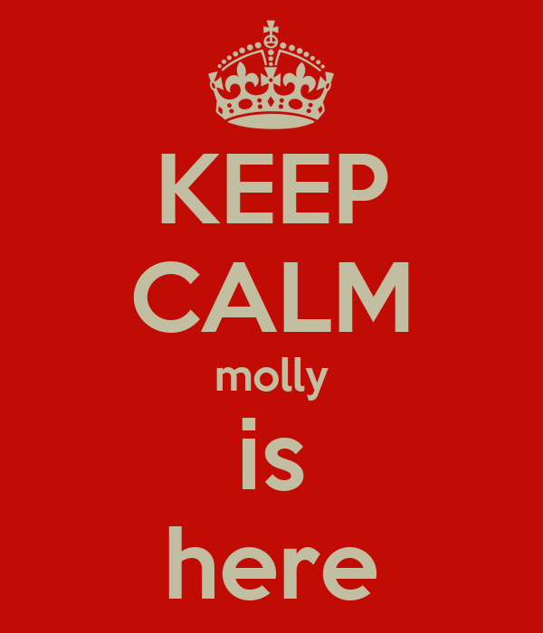 KEEP CALM molly is here