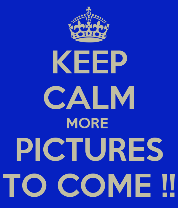 KEEP CALM MORE  PICTURES TO COME !!