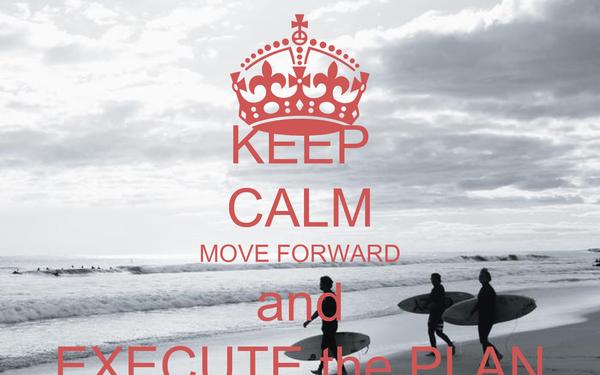 KEEP CALM MOVE FORWARD and EXECUTE the PLAN