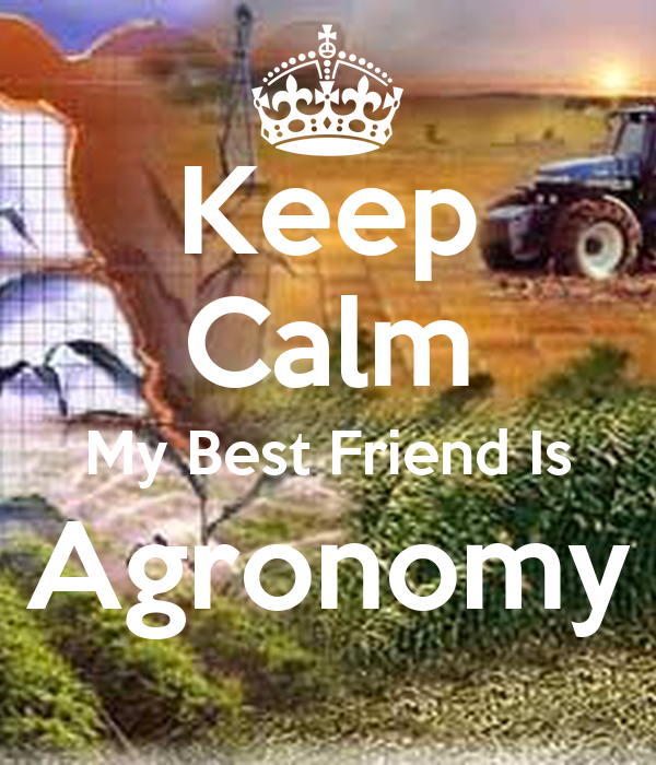 Keep Calm My Best Friend Is Agronomy