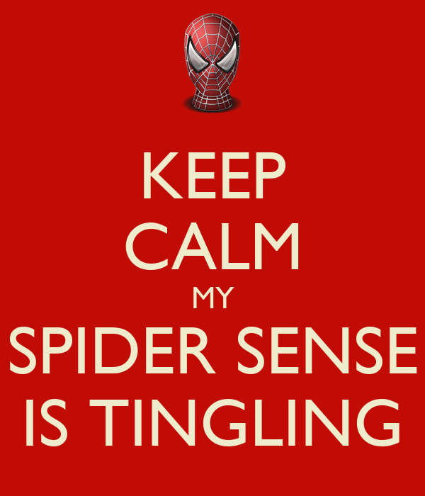KEEP CALM MY SPIDER SENSE IS TINGLING