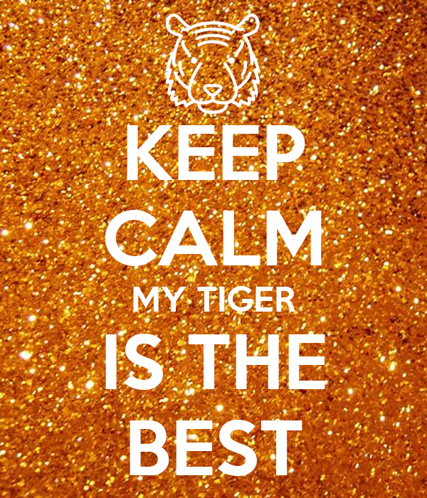 KEEP CALM MY TIGER IS THE BEST