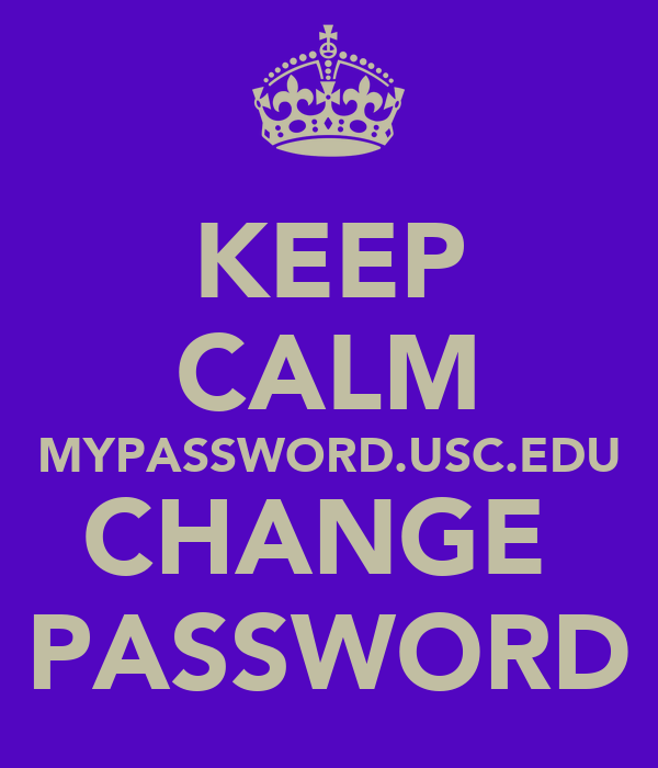 usc change password