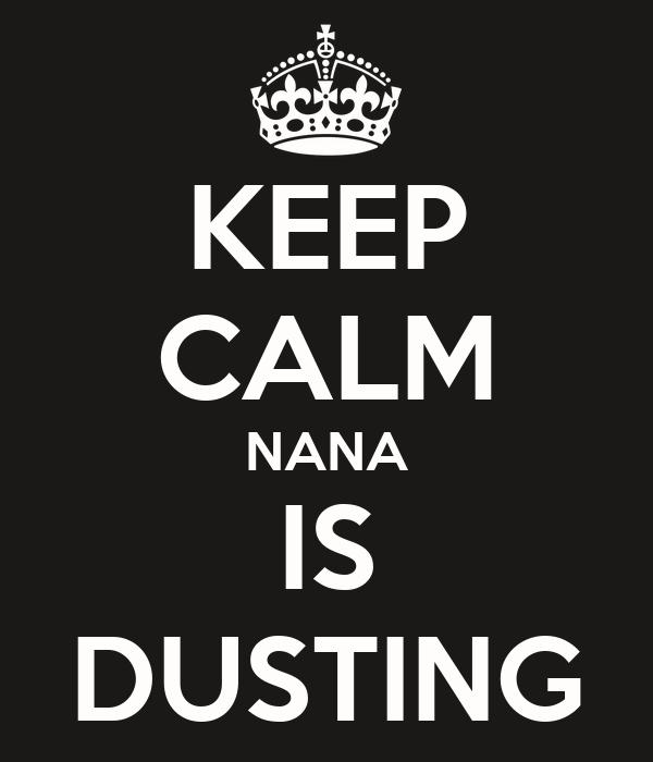 KEEP CALM NANA IS DUSTING
