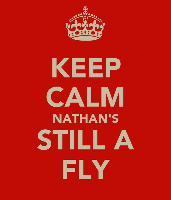 KEEP CALM NATHAN'S STILL A FLY
