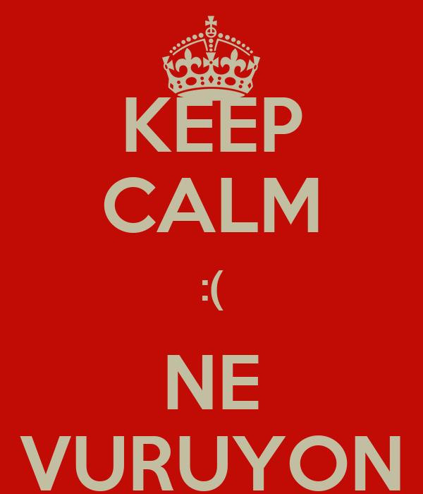 KEEP CALM :( NE VURUYON