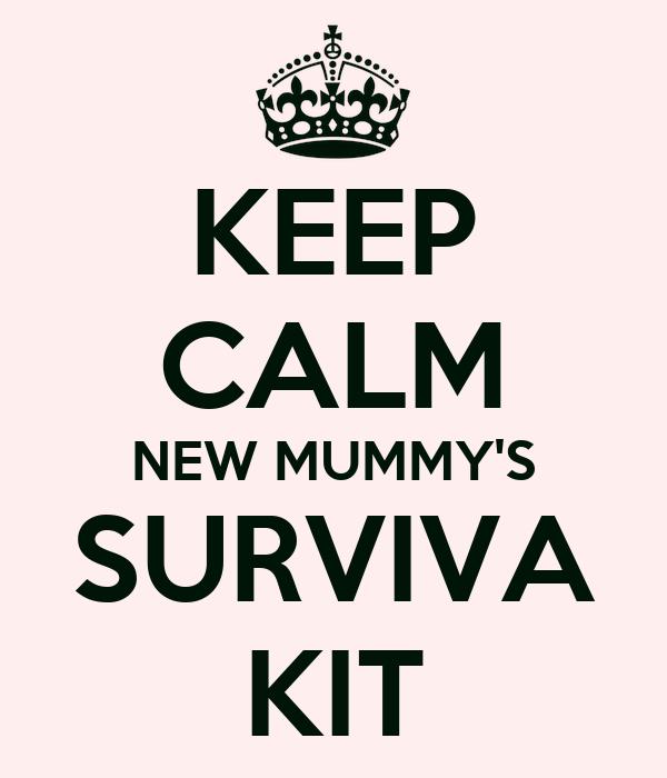 KEEP CALM NEW MUMMY'S SURVIVA KIT