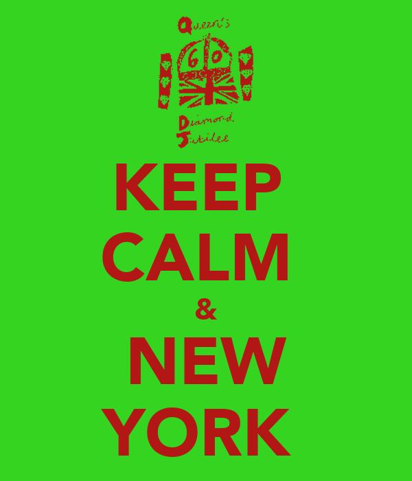 KEEP  CALM  & NEW YORK