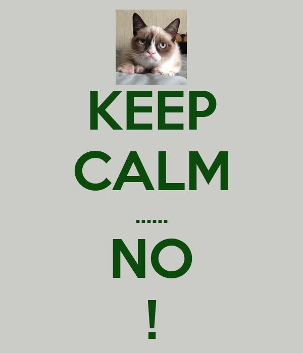 KEEP CALM ...... NO !
