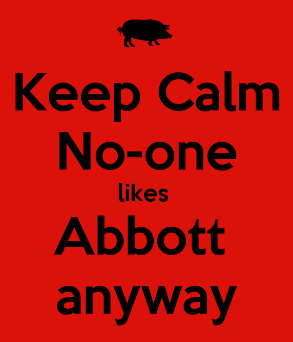 Keep Calm No-one likes  Abbott  anyway
