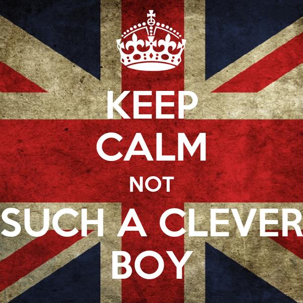 KEEP CALM NOT SUCH A CLEVER BOY