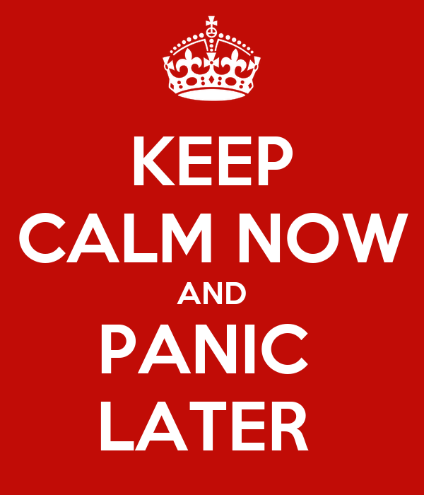 how to keep calm panic attack