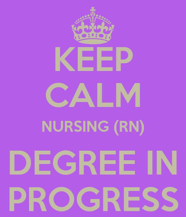Keep Calm Nursing Rn Degree In Progress Poster London Keep