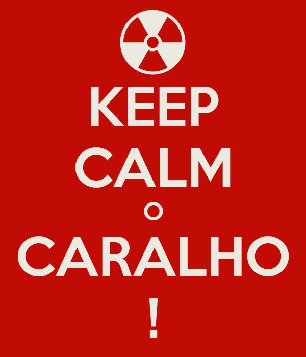 KEEP CALM O CARALHO !