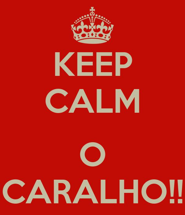 KEEP CALM  O CARALHO!!